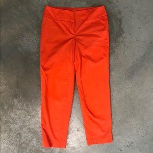 Ann Taylor LOFT Bright Orange Ankle Pants Jeans 00